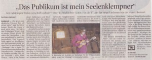 Jo Stöckholzer TT Wunschkonzert Liedermacher Singer-Songwriter